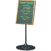Galaxy Showcase Sign - Changeable letter board sign - Gold, Silver or White letters, Gold or Silver frame, Wineglass Stand - Black or Silver, Burgundy, Green, Blue or Black grooved felt board - A2 size shown - other sizes available