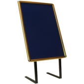 Poster Frames-Twin Leg - 00 x 600 poster size shown. Other sizes available - Gold or Silver with Black, Burgundy or Blue background. Frontrunner backing - Easily moved to maximize promotional effect.